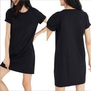 Madewell   Black Pocket Shift Shirt Dress Midi